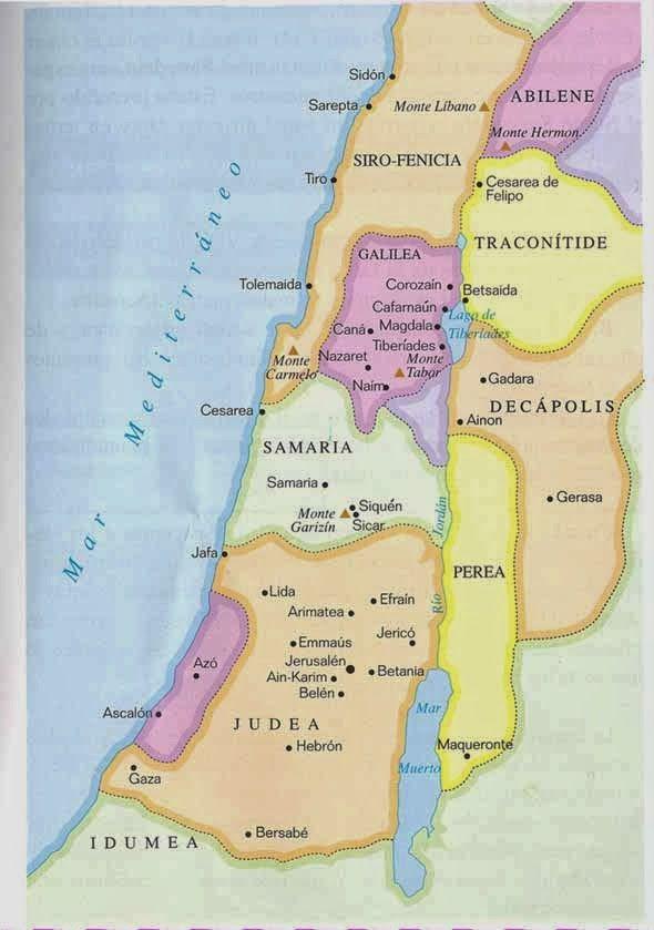 Provincias De Palestina Epoca Jesucristo Línea De Tiempo Biblia De Jesus Jesús De Nazareth