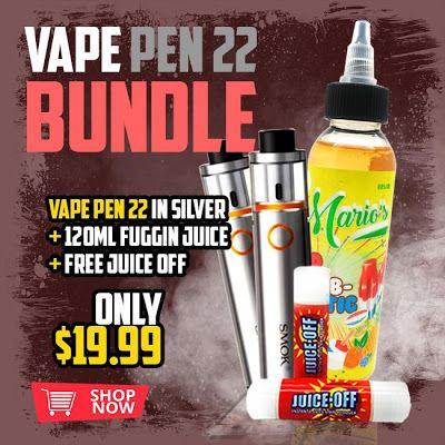 Vapor Joes - Daily Vaping Deals: VAPE 22 BUNDLE - MOD + 120ML JUICE + JUICE OFF - $.