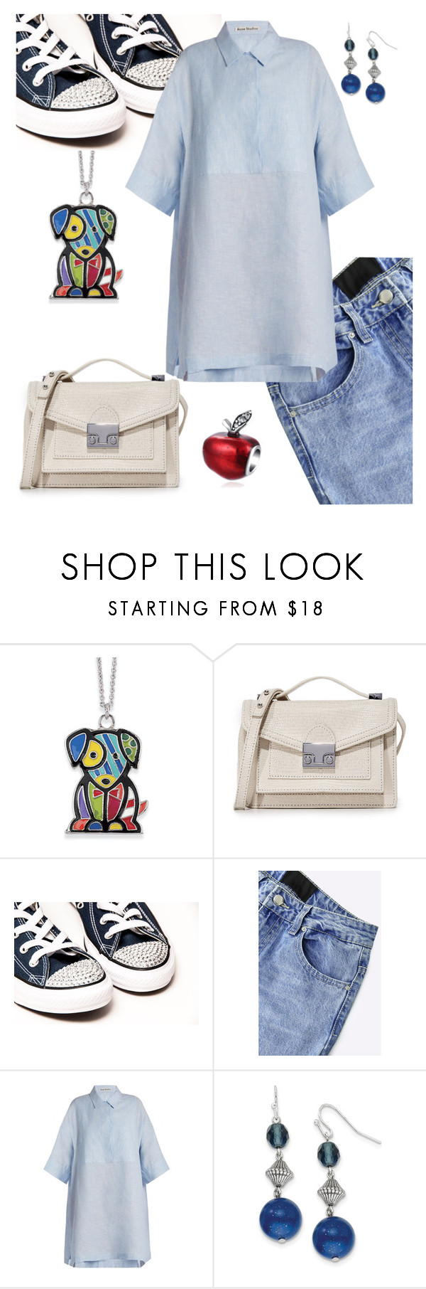"""""""Shirt Dress."""" by schenonek ❤ liked on Polyvore featuring Natures Jewelry, Loeffler Randall, Acne Studios and 1928"""