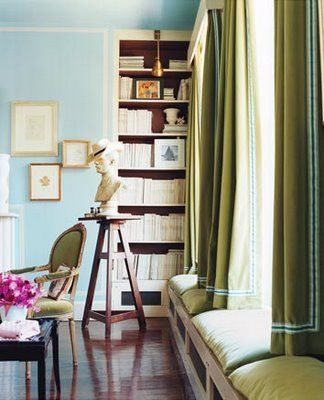 Color Combo Olive Green And Sky Blue Green Curtains Blue Rooms