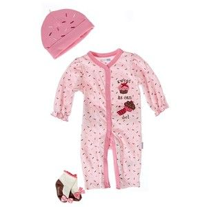 3pc Coverall Cupcake Set 0 9m 395846017 Matching Sets Baby Girl