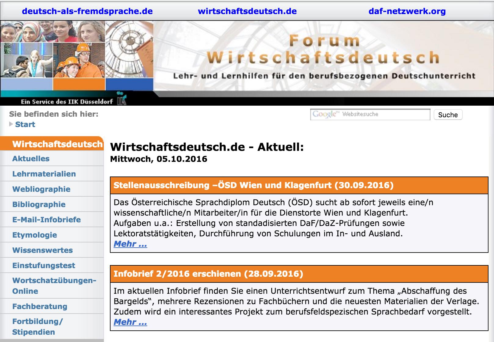 Lehrmaterialien, Etymologie, Einstufungstests, Grammatik- und Wortschatzübungen. #Deutsch #German