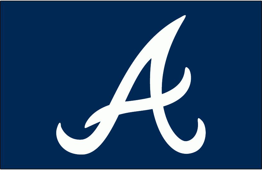Atlanta Braves Cap Logo 1987 White A On A Navy Blue Background Atlanta Braves Braves Garden Flag Pole