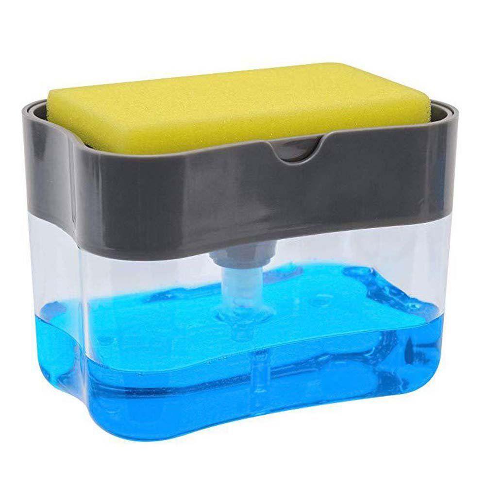 Kaboer Kitchen Dishwashing Soap Pump Sponge Holder Soap Dispenser And Sponge Holder Walmart Com In 2021 Soap Pump Dispenser Hand Soap Dispenser Foam Soap Dispenser