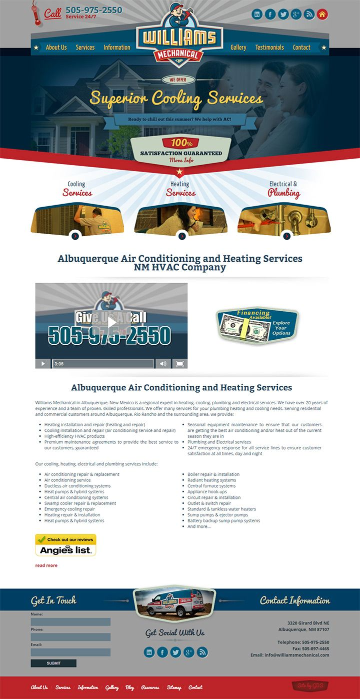 Williams Mechanical Plumbing In Albuquerque New Mexico Plumbing Hvac Company Heating Services