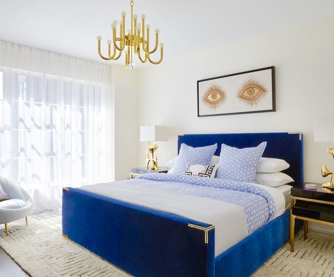 Luxury Gold And Royal Blue Bedroom Princess Bedroom Luxury