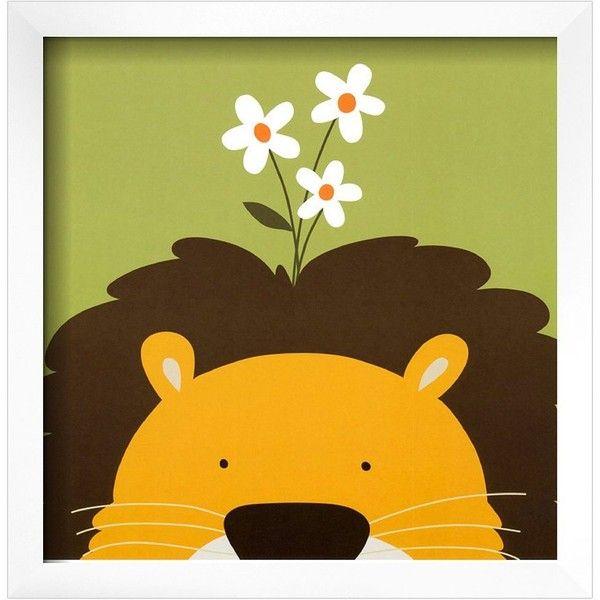 Art.com Peek-A-Boo IX Lion Framed Wall Art (1 750 ZAR) ❤ liked on ...