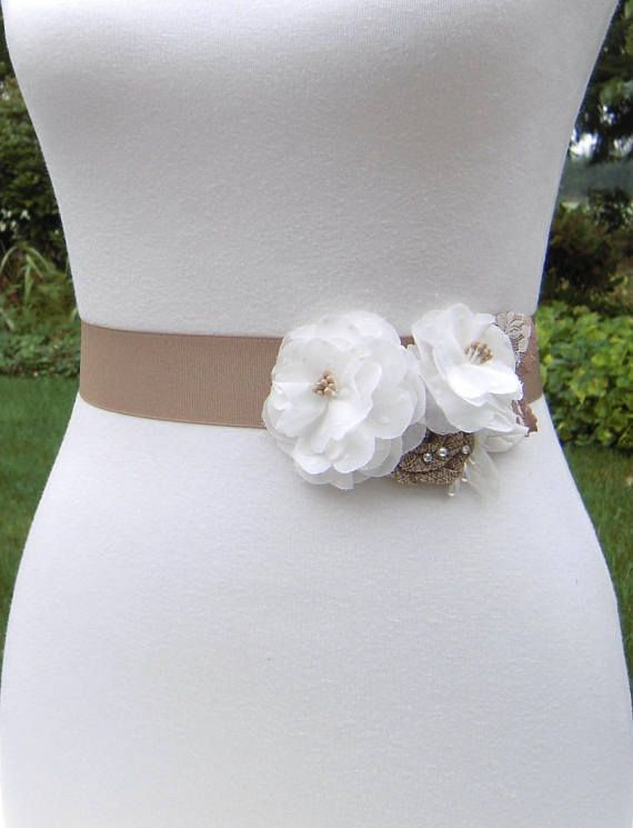 Rustic Wedding Dress Sashes Belts