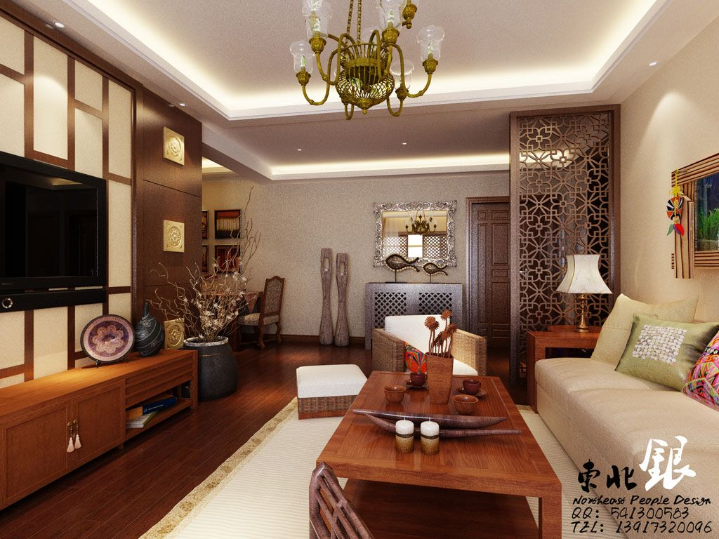 Oriental Living Rooms Vinyl Flooring For Room Design Asian Style Simple House Interior