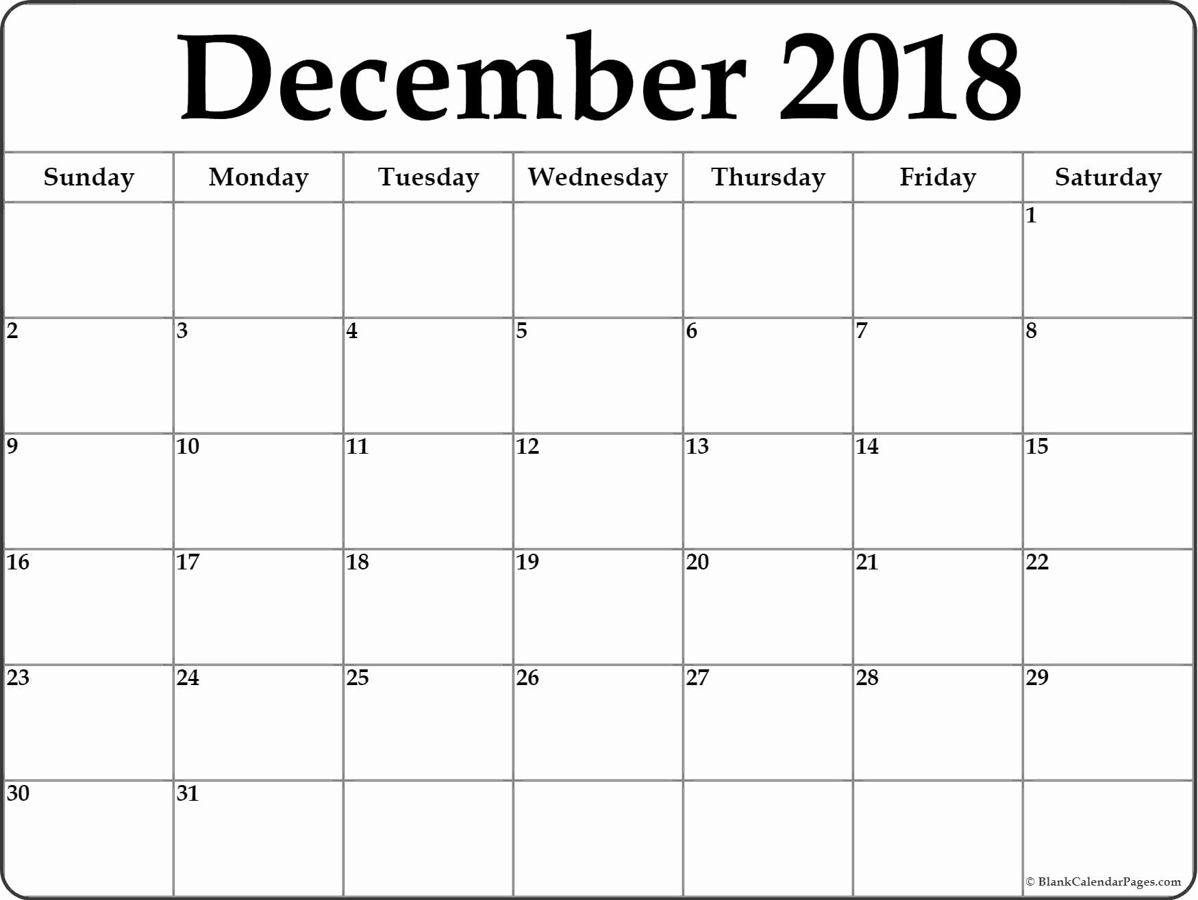 graphic relating to Printable Calendar Dec called Calendar December 2018 And January 2019 December 2018