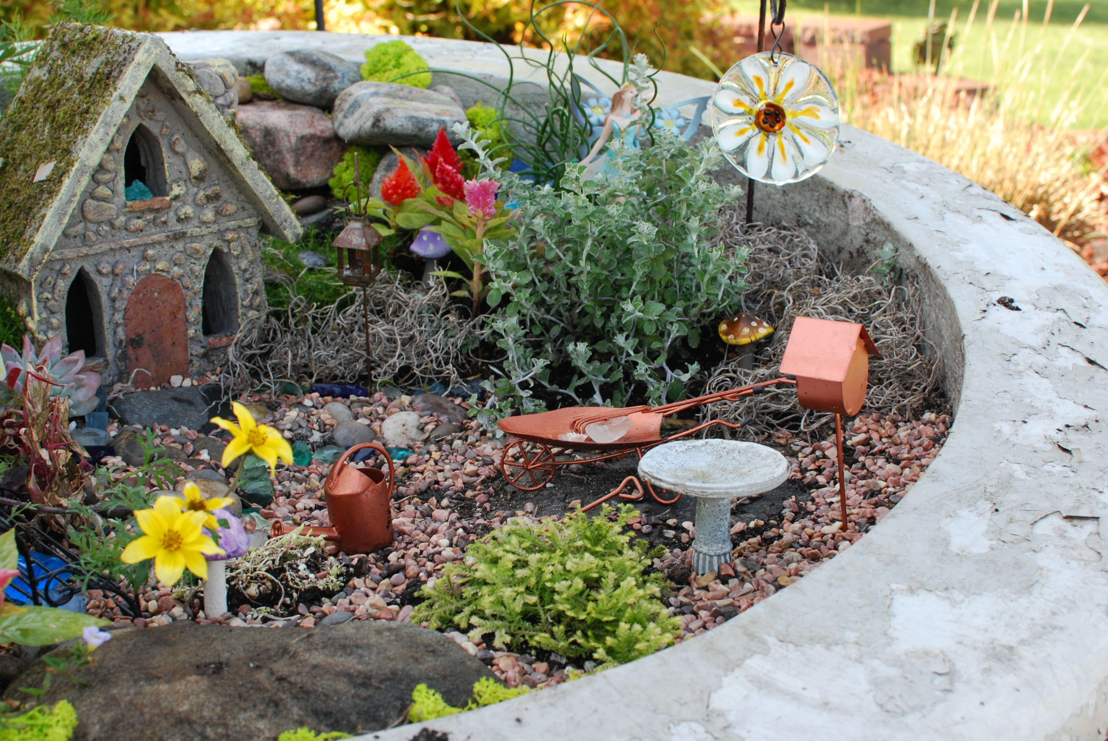 their gardening area