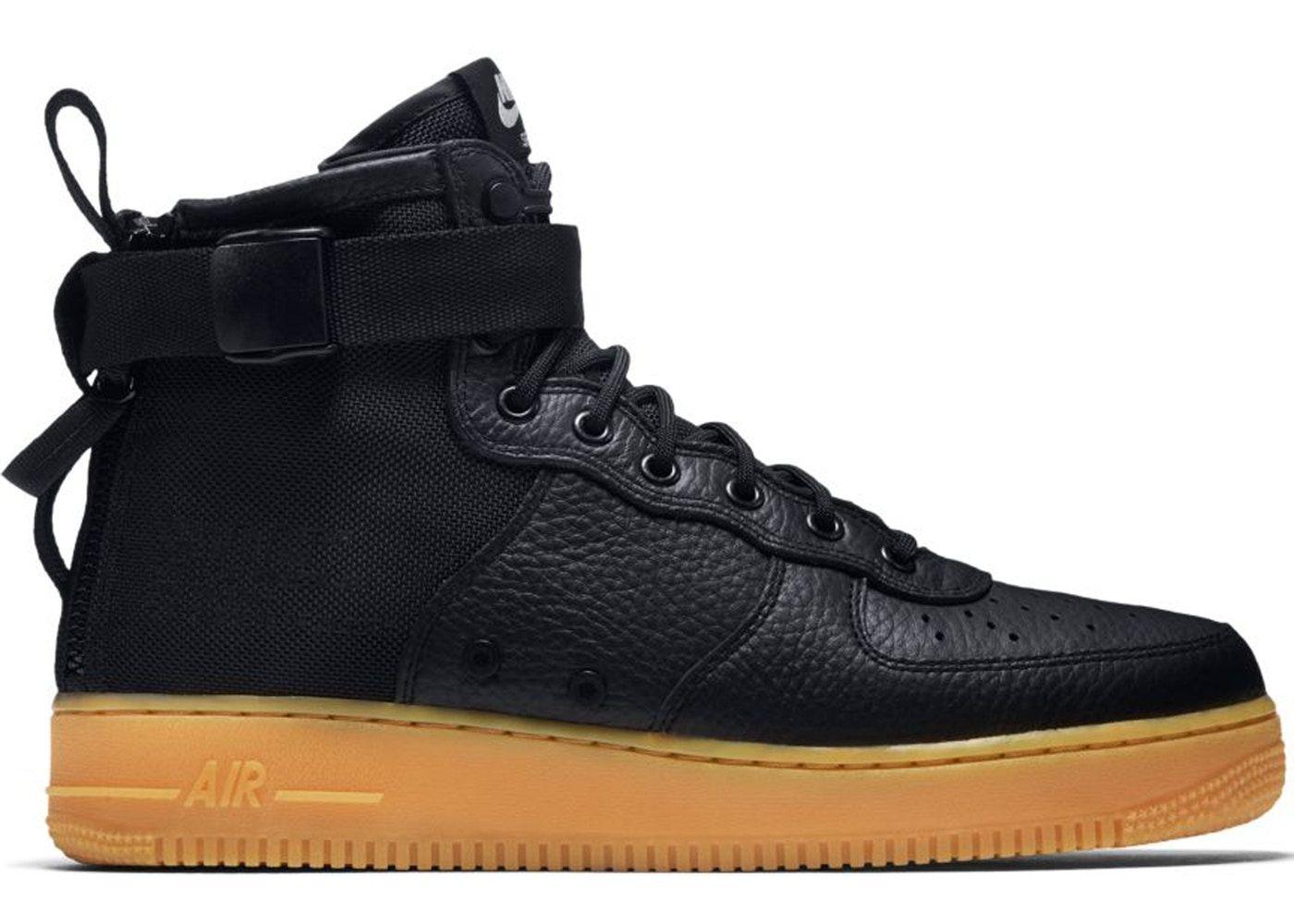 Nike Sf Air Force 1 Mid Black Gum Black Gums Nike Nike Air