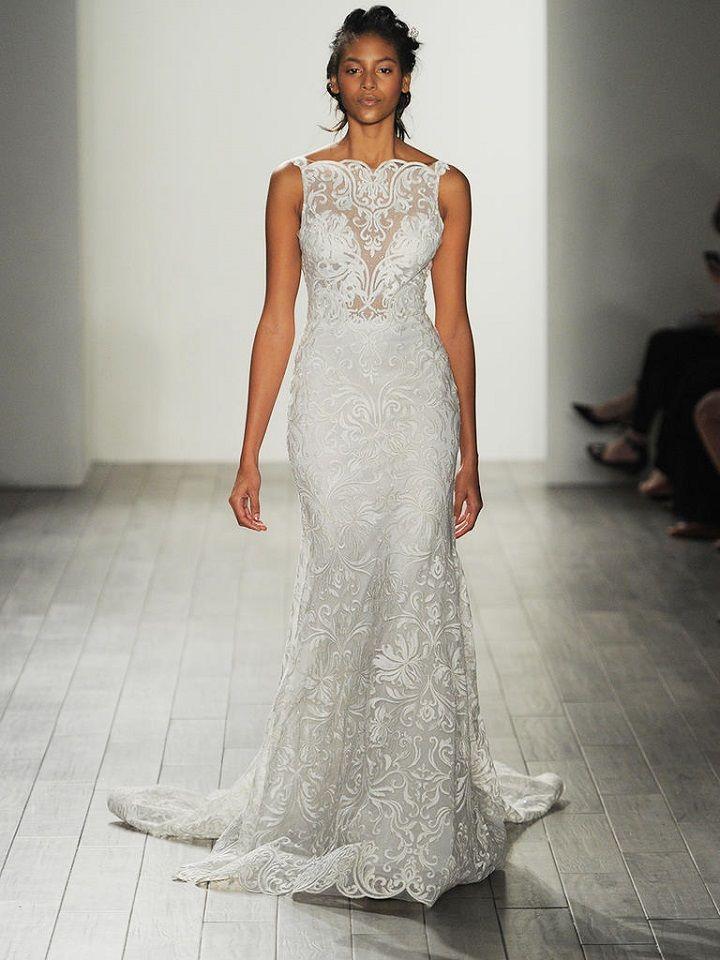 Sheath wedding dress | itakeyou.co.uk #sheath #sheathweddingdress #weddingdresses #weddingdress #lazaro #wedinggown