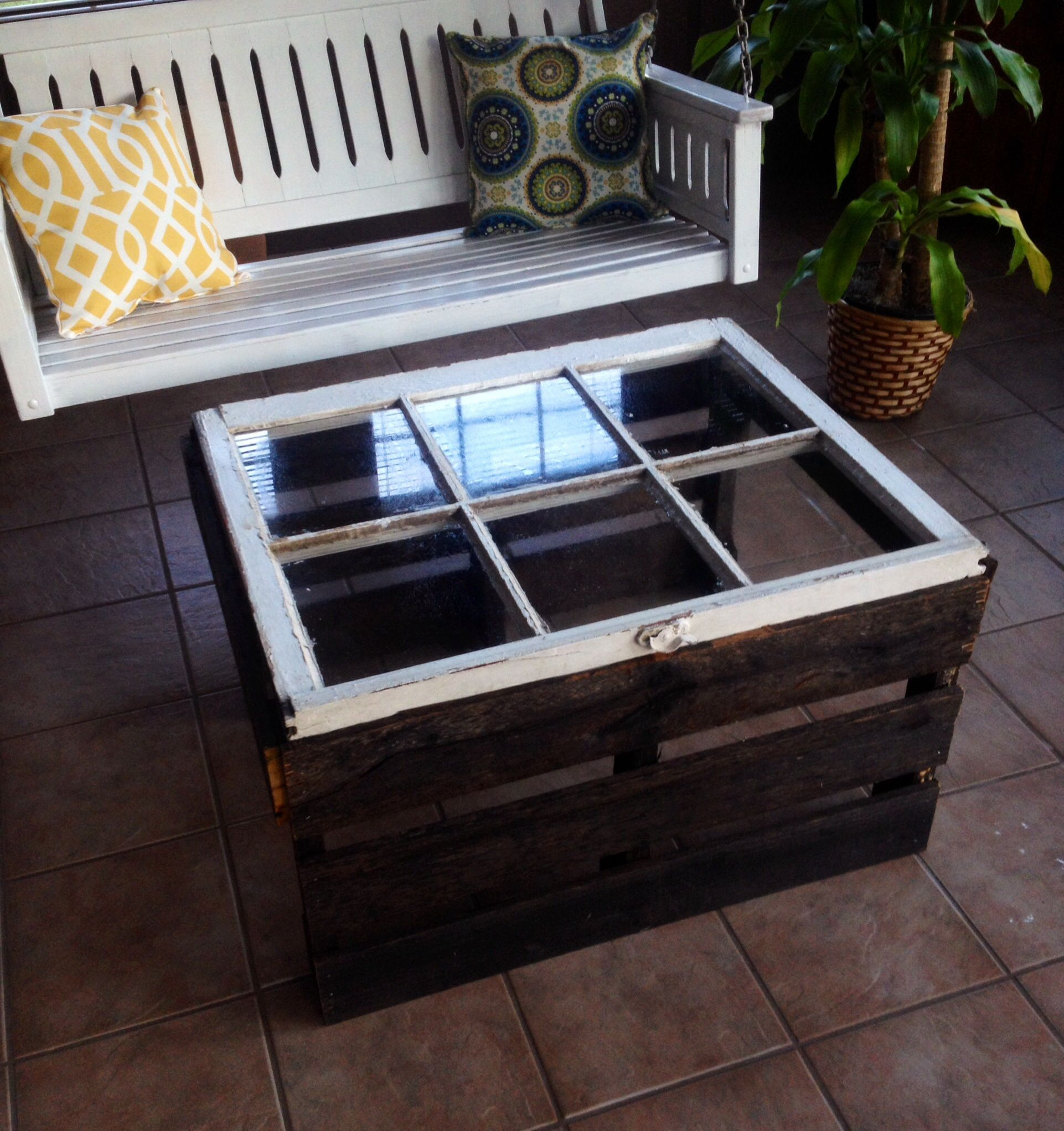 My Sunday Project Old Window Pallet Coffee Table Pallet