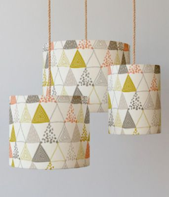 Oh So Triangular Drum Lampshade, $45                                                                                 via @AOLLifestyle Read more: http://www.aol.com/article/2015/11/05/best-home-decor-finds-for-under-50/21260095/?a_dgi=aolshare_pinterest#slide=3694297|fullscreen