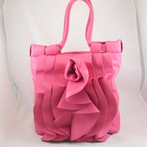 Nwot Pretty Pink Faux Leather Handbag