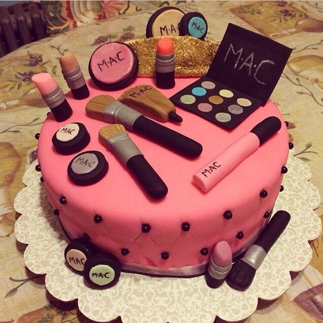 Pin By Kate Sarycheva On Makeup Make Up Cake Mac Cake Cupcake Cakes