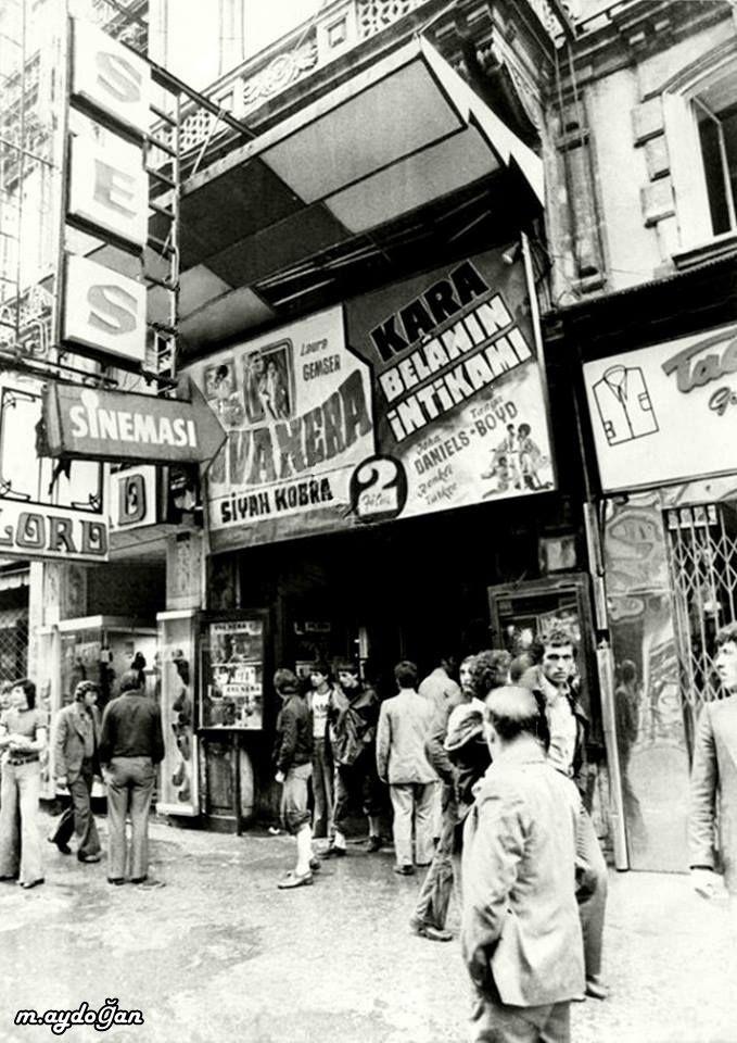 Ses Sineması İstiklal Caddesi Halep Pasajı Beyoğlu ,1970'ler