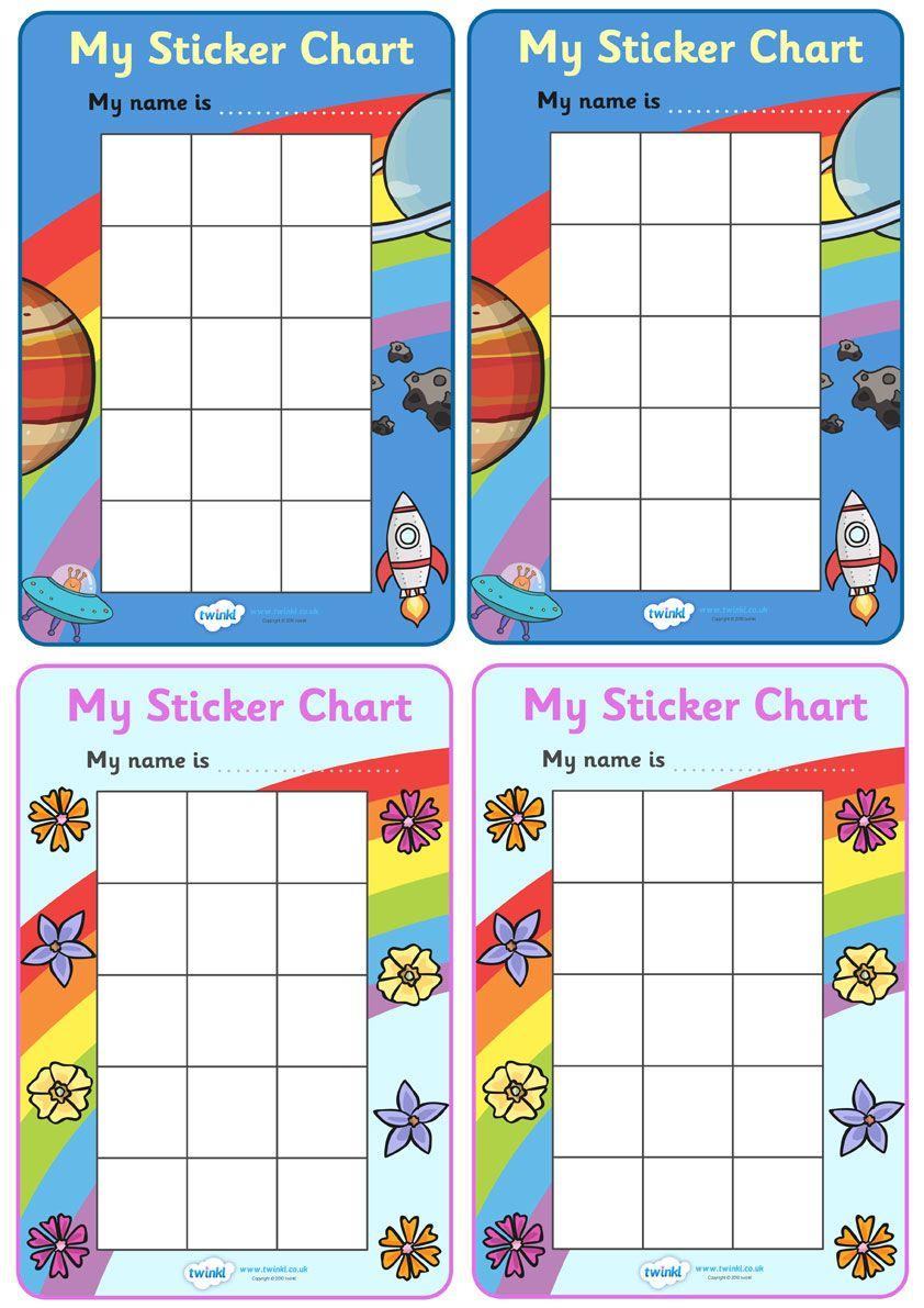 Twinkl Resources >> My Sticker Chart >> Classroom ...