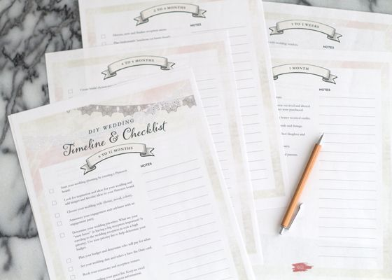 Free Printable Wedding Planning Timeline Checklist  Wedding