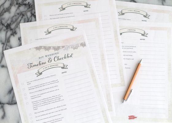 Free Printable Wedding Planning Timeline Checklist WEDDING - IDEAS