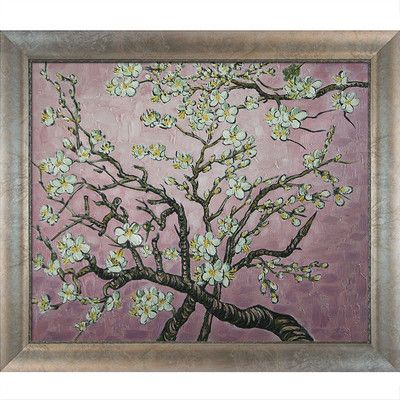 Tori Home Branches of an Almond Tree in Blossom (Pink) by Van Gogh Framed Original Painting