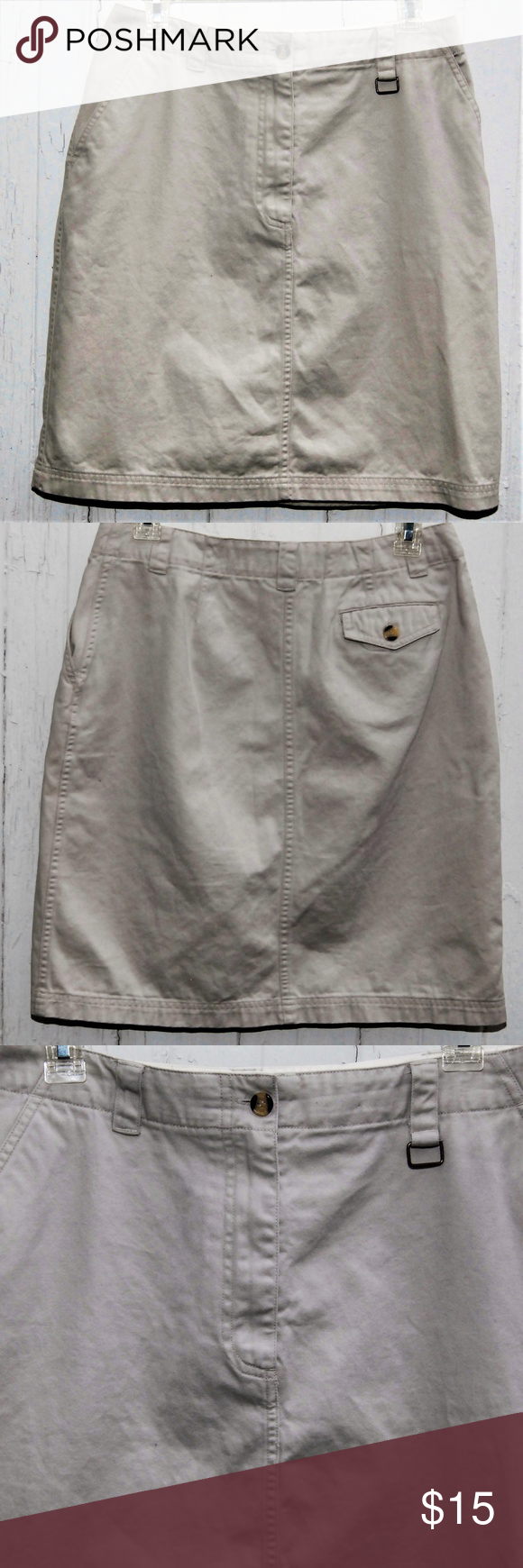 f9eec89f9 Christopher & Banks Khaki Skirt *Buy 1 Get 1 Free* For your consideration, Christopher  Banks Khaki Skirt with Front Pockets One Back Pocket and Belt Loops ...