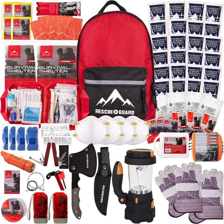 Survival Backpack 72 Hour Bug Out Backpack Emergency Kit Backpack Earthquake Kit For 4 More Emergen In 2020 Disaster Kits Survival Backpack Emergency Survival Kit