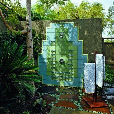 ideas para duchas al aire libre