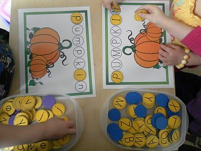 P is for Pumpkin, link to printables