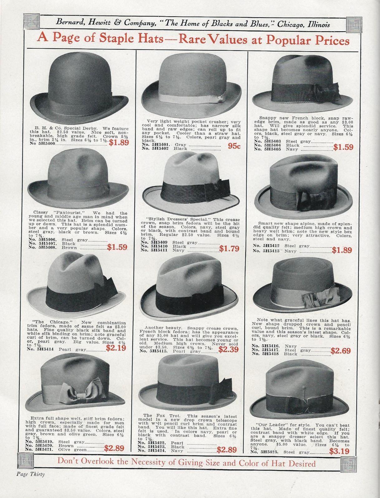 Bernard Hewitt 1916 hats infographic  848ee15001ef