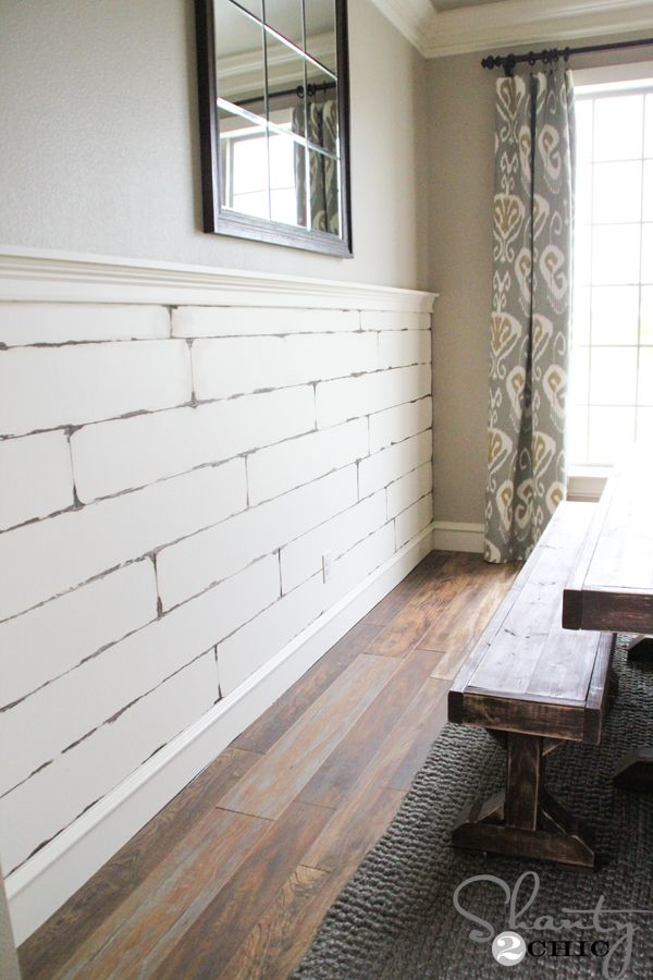 Diy Distressed Plank Wall Planked Walls Plywood And Birch