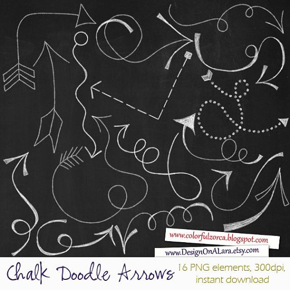 Chalk Doodle Arrows Chalk Arrows Clip Art Arrow Designs Etsy Digital Arrows Hand Drawn Arrows Arrow Design