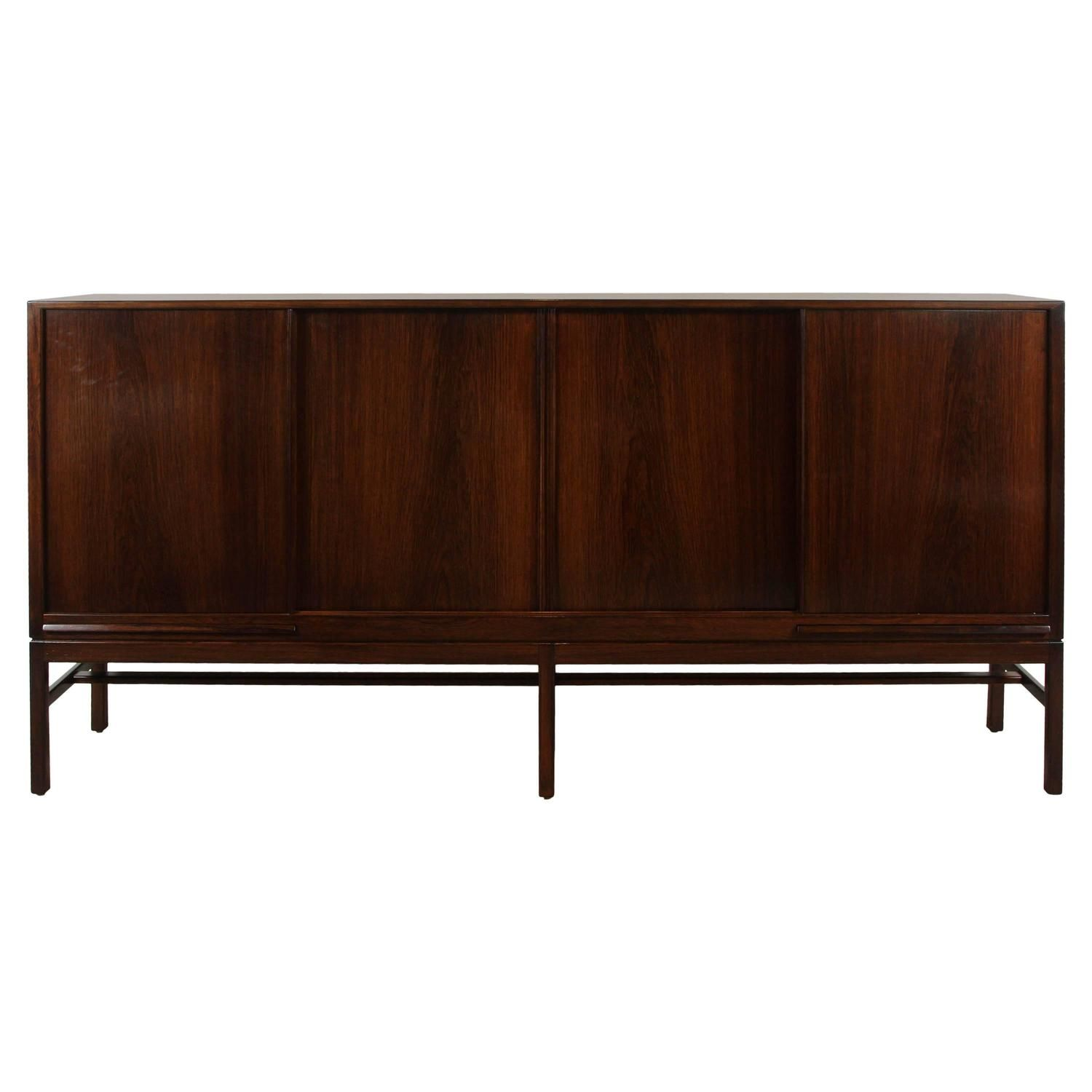 Tall Rosewood Credenza By Kurt Ostervig