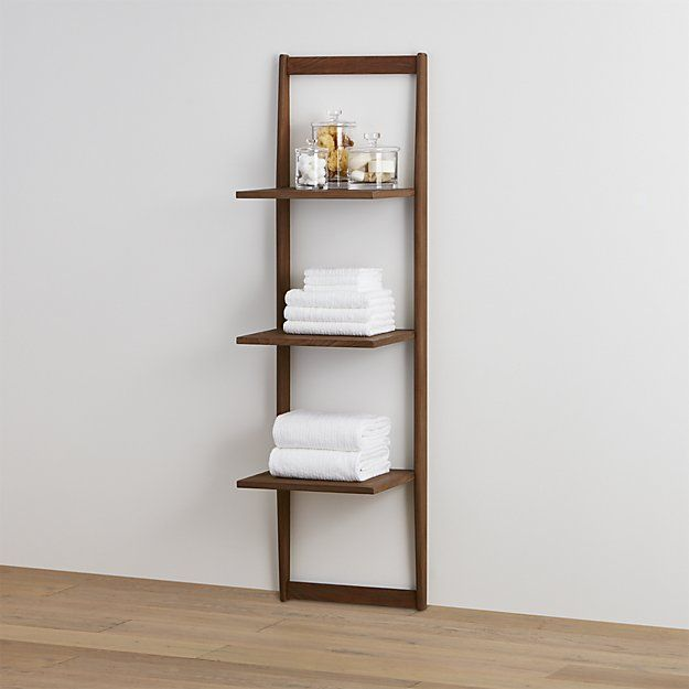Three Tier Teak Bath Shelf | Crate and Barrel Open shelves are big ...