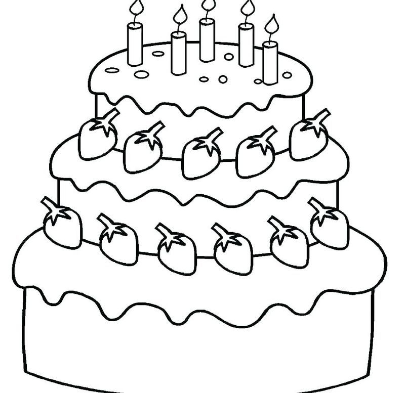 Collectin Of Birthday Cake Coloring Pages To Print Happy Birthday Coloring Pages Birthday Coloring Pages Free Coloring Pages