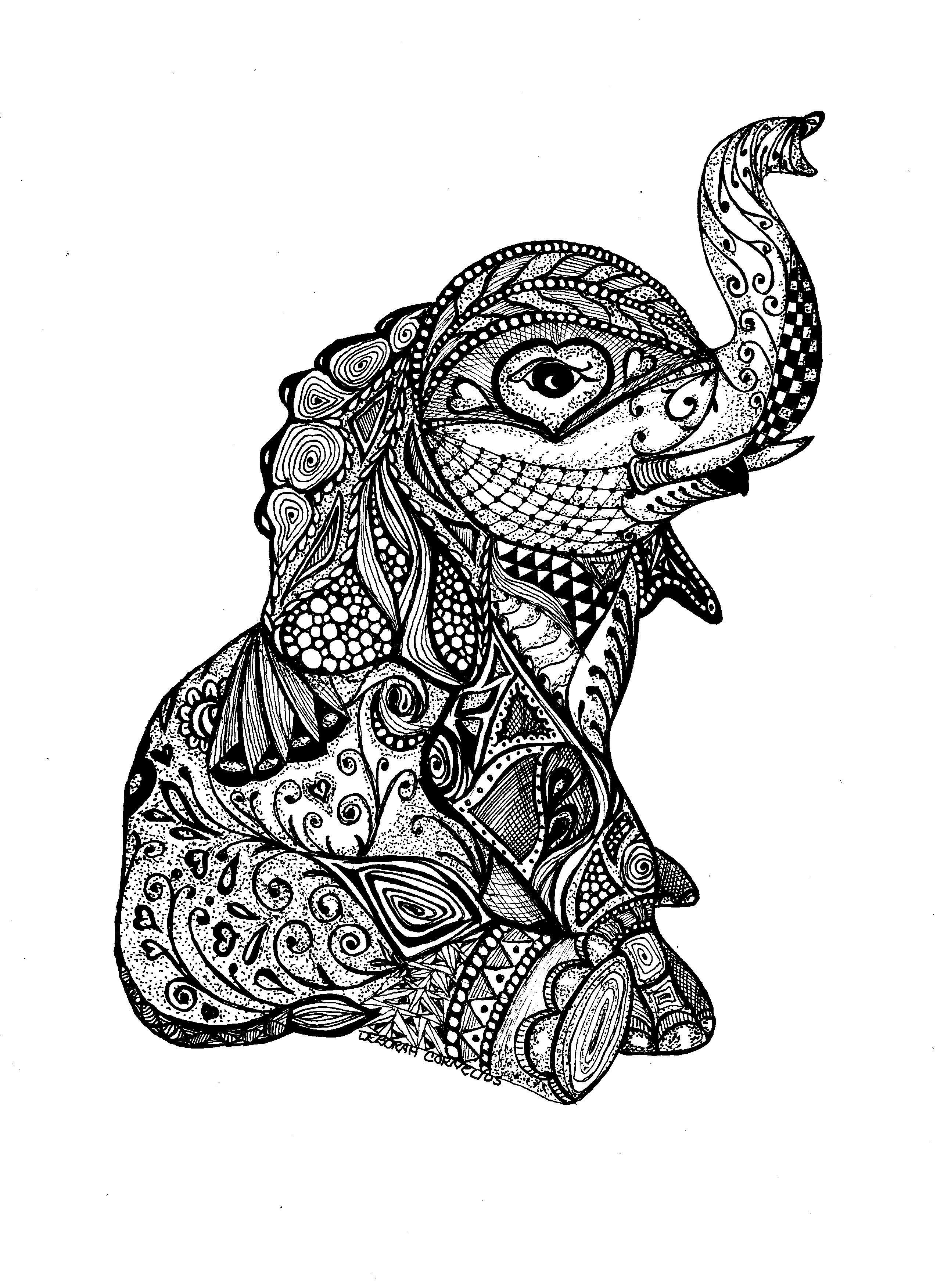 Doodle art elephant | Elephant tattoos, Tattoos, Zentangle ...