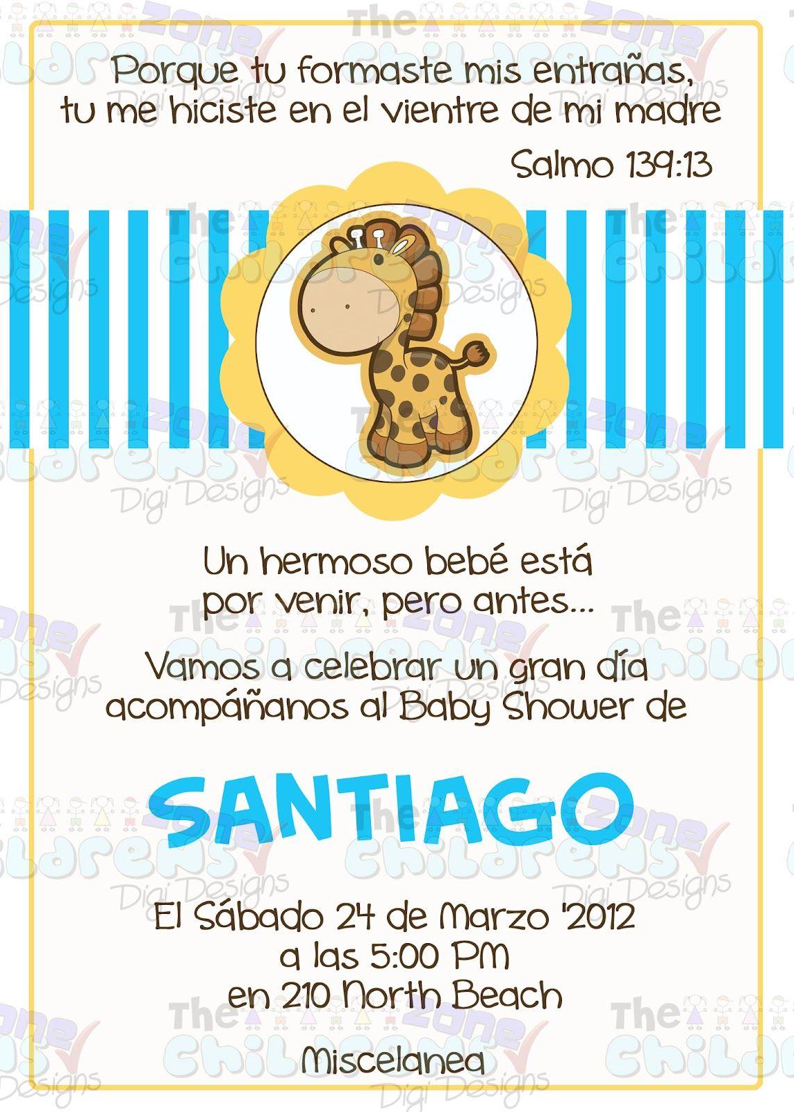 The Childrens Zone Digi Designs Invitaciones Para Baby Shower