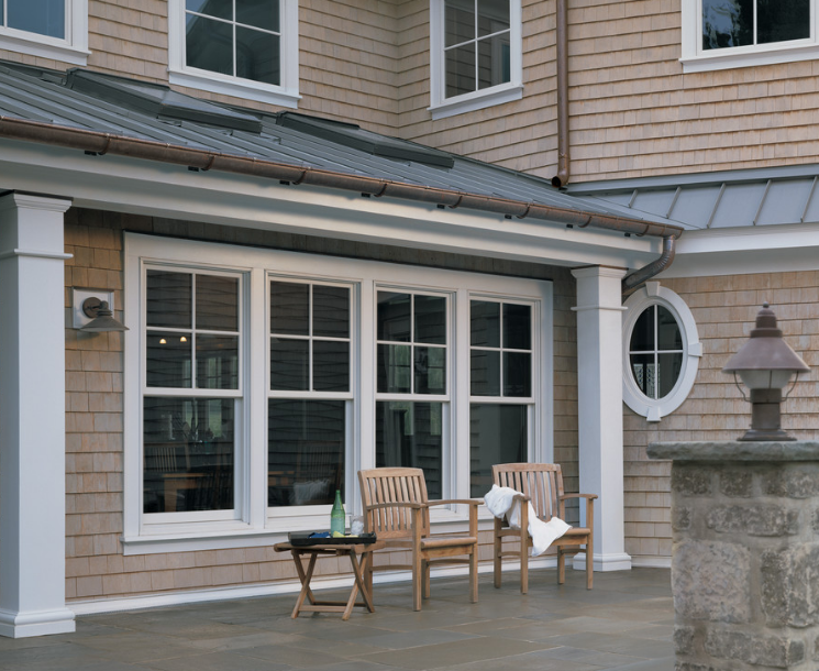 Andersen 400 Series Woodwright Tilt Wash Double Hung Windows With Modified Colonial Grilles