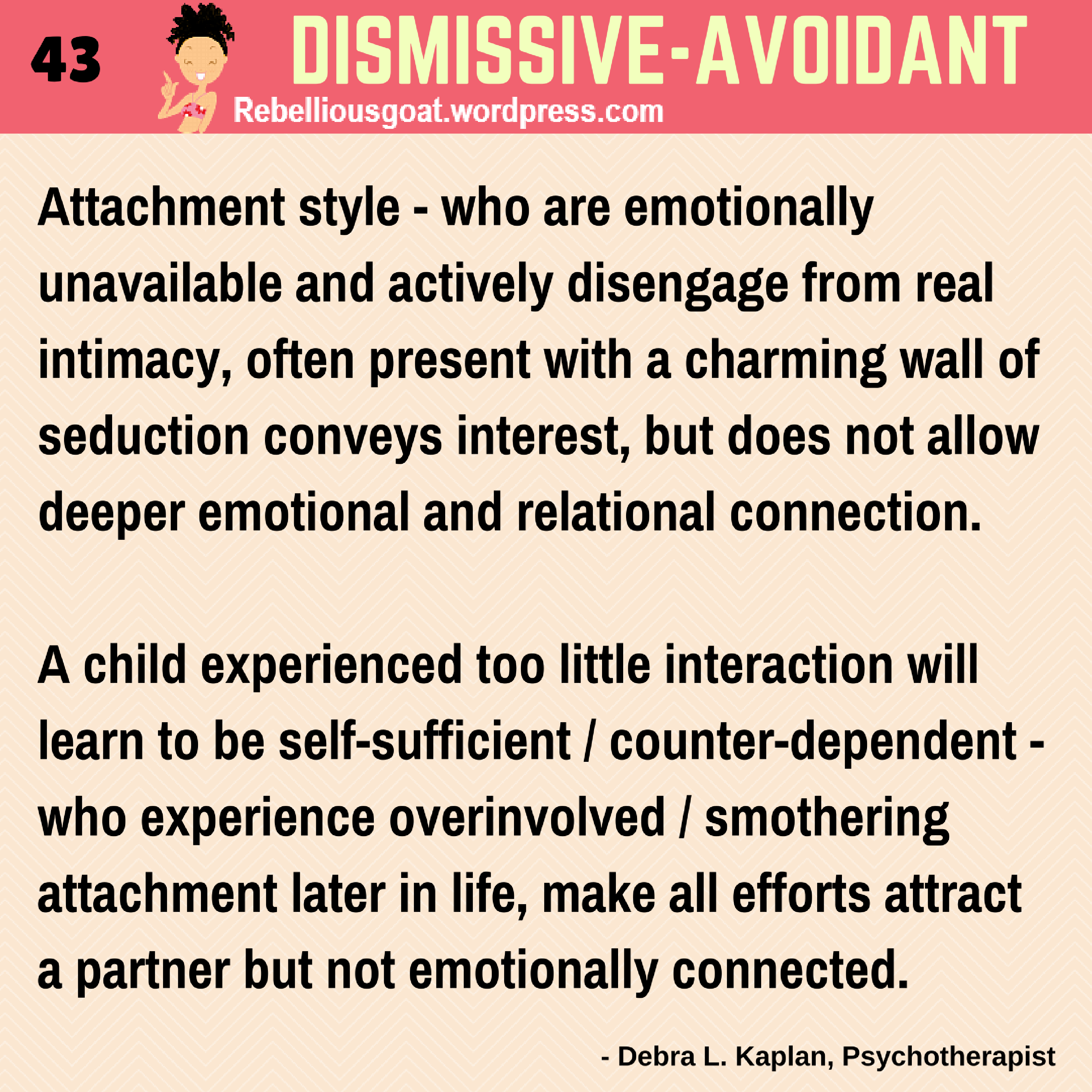 Dismissive avoidant attachment style