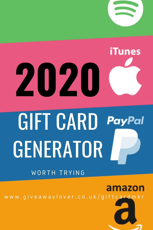 Working 2020 Gift Card Generator Gift Card Generator Giveaway Generator Gift Card