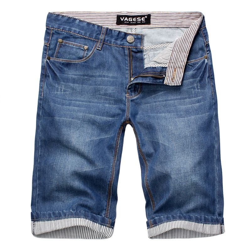 ad170759886 2018 Summer Blue Men s Denim Shorts Large Size 28 30 32 36 38 40 42 Fashion  Casual Man Jeans Cotton Shorts Cool and Comfortable The Buddy Shoppe Price   ...