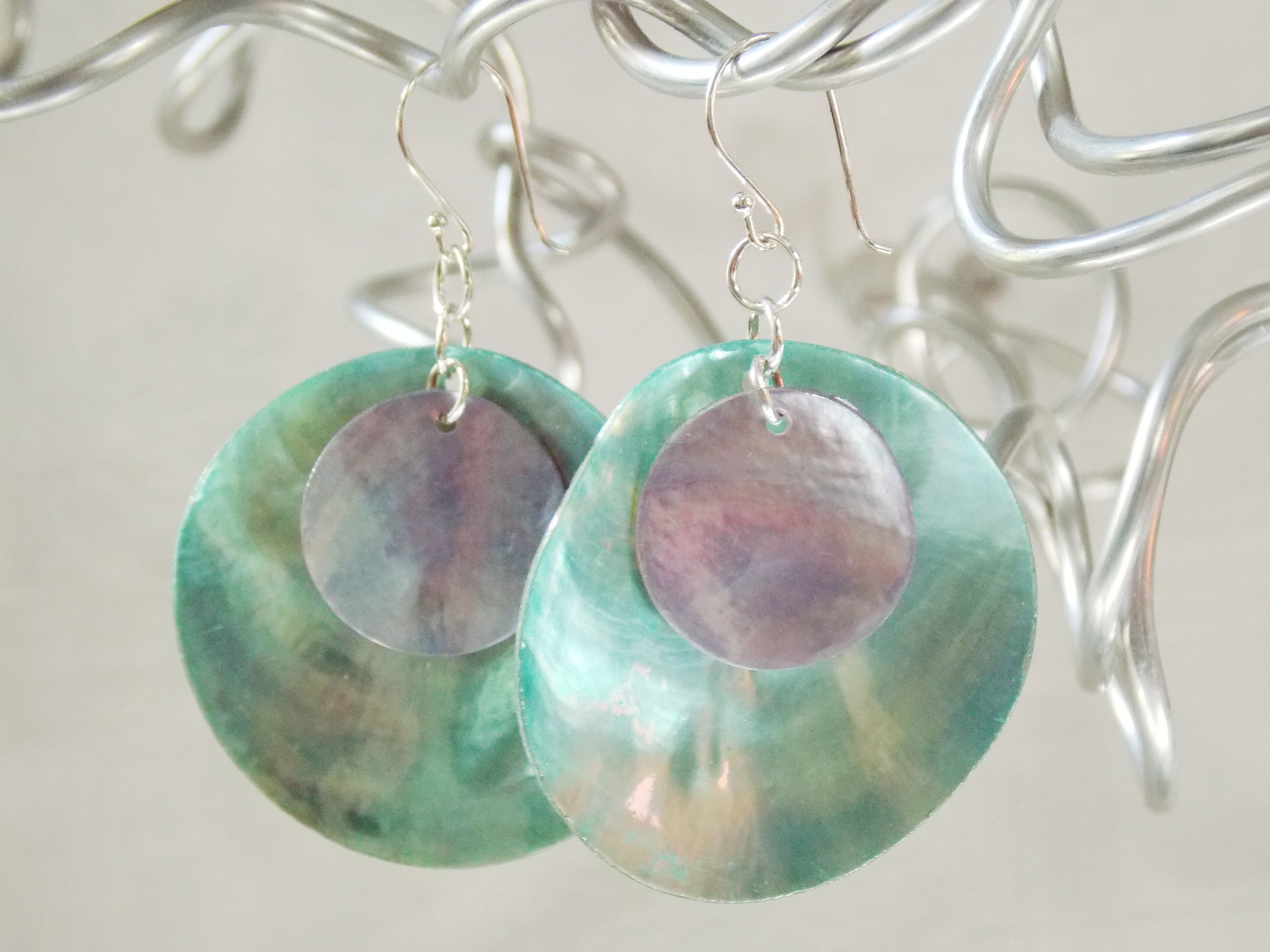 You Spin Me Round Earrings  -SOLD-