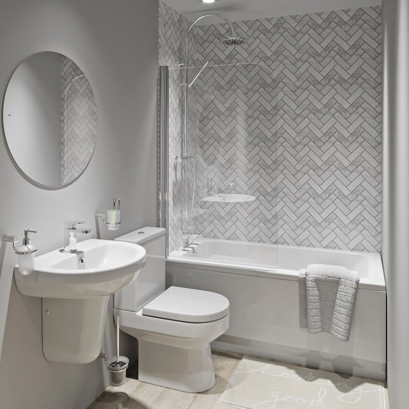 Showerwall Custom Herringbone Acrylic Shower Wall Panel Shower Wall Panels Acrylic Shower Walls Bathroom Wall Panels