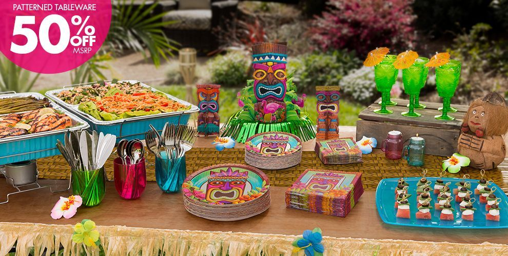 Tropical Tiki Party Supplies Party City Themed Party Supplies