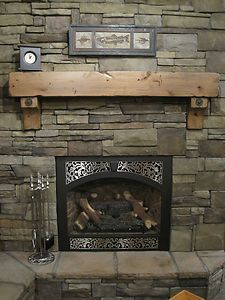 Fireplace Mantle Metal Brackets Rustic Mantel