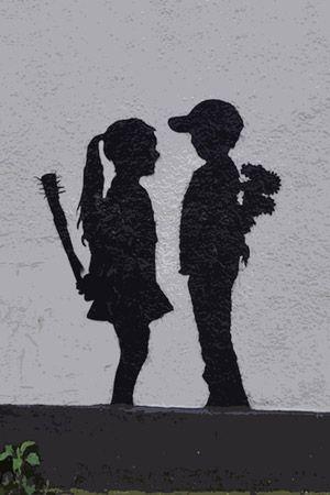 Love this piece by Bansky!  Graffiti art=awesome
