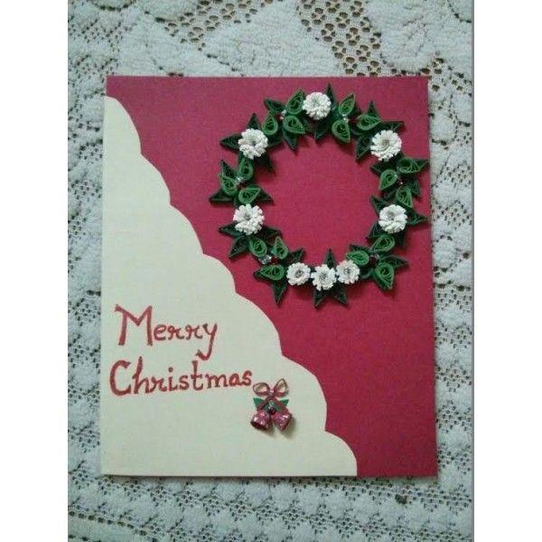 Handmade paper quilled designer christmas greeting card project handmade paper quilled designer christmas greeting card m4hsunfo