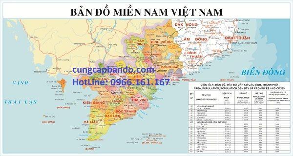 Bản đồ Miền Nam Việt Nam Bản đồ Việt Nam Viết
