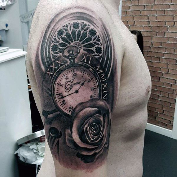 65 Best Tattoo Designs For Men In 2017: 200 Popular Pocket Watch Tattoo And Meanings [2017